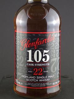 Glenfarclas 105 22 Yr front zoom sharp